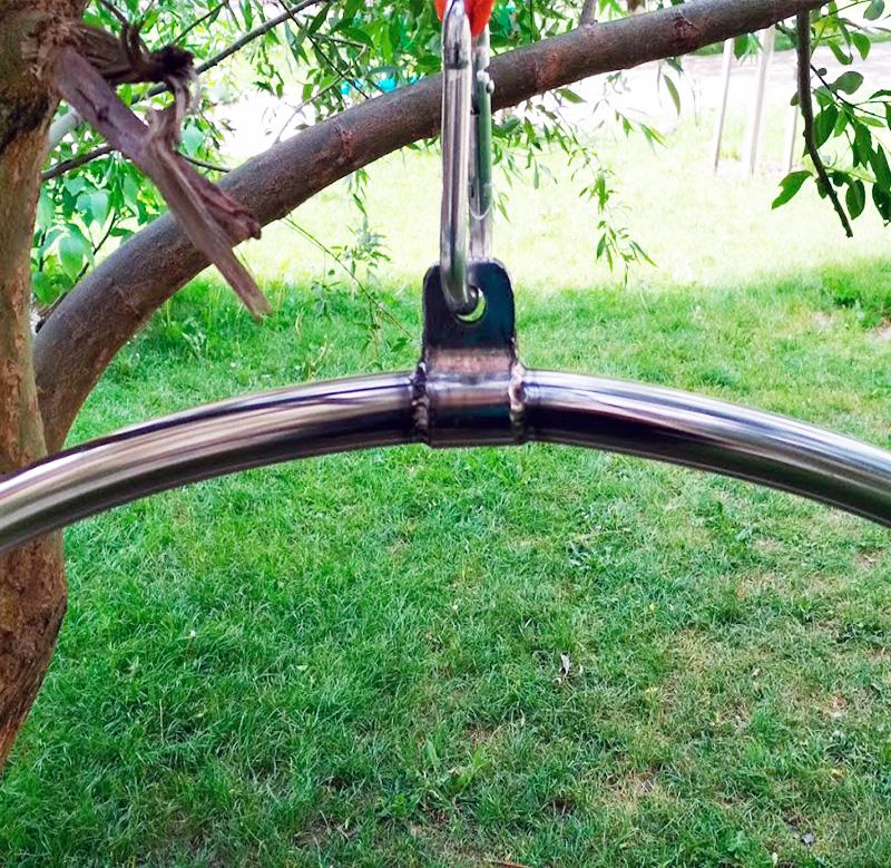 Воздушное кольцо с перекладиной нерж. сталь