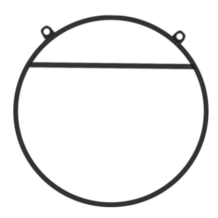 Воздушное кольцо c перекладиной на 2 подвеса