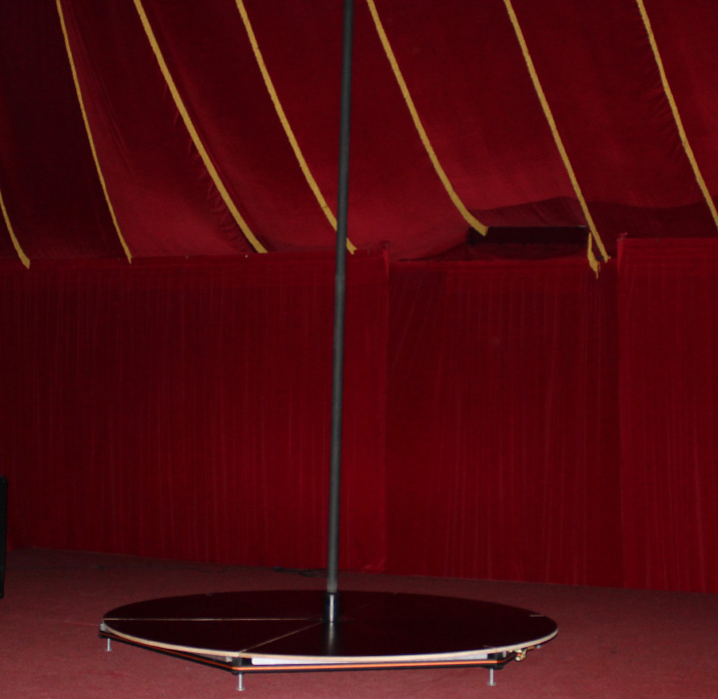 Stage with Chinese pole