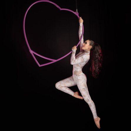 Aerial Heart – Heart shaped Aerial Hoop
